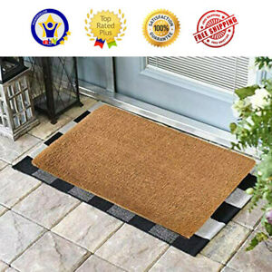 Natural Coco Coir Doormats for Outside with Heavy Duty Weather Resistant PLAIN