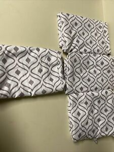 Chic Home Design Imani 4 Piece Cali King Pillow Cases Grayish Purple