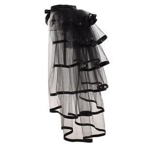 Victorian Steampunk Tie-on Bustle Skirt Gothic Party Tutu Belt Lace Over Skirt