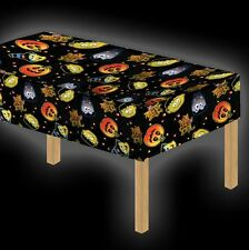 Halloween Table Cloth Tablecloth Cover Party Kids WIPE clean Trick Treat Cartoon