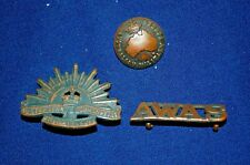 Wwii Era Australian Woman's Army Service Insignia Lot