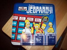 Tin Box The Simpsons Edition Jeopardy board game complete Homer Simpson
