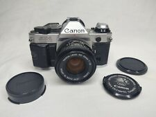 Canon AE-1 Program 35mm Film Camera w/Canon FD 50mm 1:1.8 lens Olympics EUC