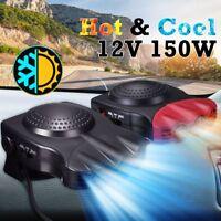 Black / Red 12V 2in1 150W Car Auto Heater Hot Cool Fan Window Demister Defroster