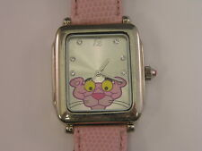 Vintage PInk Panther Watch Large Size Watch w/ Pink Band