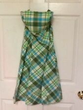 Gap ladies dress size 6 green blue plaid pattern fully lined new 90