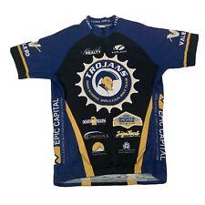 Voler Blue & Black Trojans Short Sleeve 3/4 Zip Cycling Jersey - Size Medium