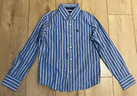 Abercrombie & Fitch Men's Shirt Blue Striped Long Sleeve Small 100% Cotton