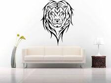 Wall Room Decor Art Vinyl Sticker Mural Decal Tribal Animal Lion Leo King FI603