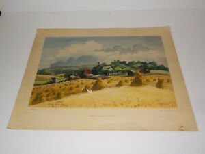 MINNESOTA IN AUGUST BY ADOLF DEHN LIVING AMERICAN ART LITHOGRAPH VINTAGE PRINT
