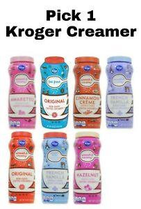 Pick 1 Kroger Coffee Creamer: Cinnamon Creme, French Vanilla, Hazelnut & More