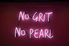 "New No Grit No Peari Light Lamp Artwork Bar Handmade Acrylic Neon Sign 14"""