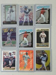 LOT of 9 Ken Griffey Jr Cards - Topps Bowman - 1 Refractor - Fast Shipping G32