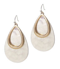 Metal Teardrop Earring Silver Toned Gold Toned Drop Dangle Wire Hook