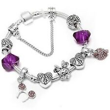 Mickey/Minnie mouse 19 cms charm bracelet( breast cancer charity fundraiser)