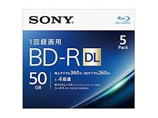 5pack Sony BD-R DL 50GB 4x Blu-ray Disk BD R Blank Disc Made in Japan