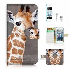 ( For iPod 5 / itouch 5 ) Flip Case Cover! P1727 Giraffe