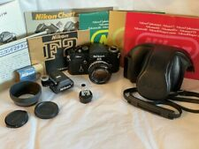 New ListingNikon F2 Titan w/50mm f1.4 lens etc. original owner 41yrs near mint Usa location