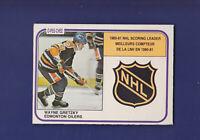 Wayne Gretzky Scoring Leader 1981-82 O-PEE-CHEE Hockey #384 (NM) Edmonton Oilers