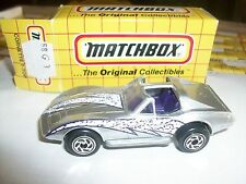 Matchbox Corvette C3 T-Top Silver Mb58 W/Old Box 58G3