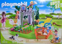 Playmobil Super-Set 70010 Familiengarten Pflanzen Liege Spielburg Laufrad  NEU
