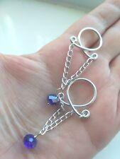 Erotic Jewelry Dangle Nipple Ring Body Jewellery Non Piercing Nipple Ring blue