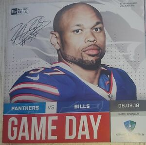 BUFFALO BILLS Gameday Program LORENZO ALEXANDER 8/9/18 Carolina Panthers 2018 zo