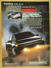 1988 Toyota Celica All-Trac Turbo color photo vintage print Ad