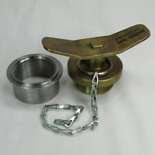 Military Army Brass Gas Tank Fuel Cap STEEL BUNG Custom Hot Rod Truck MADE IN US