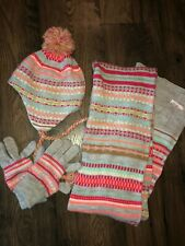 Girls hat, scarf and glove set