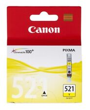 Genuine Unused Original Canon 521 Yellow ink cartridge