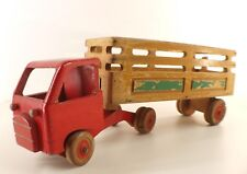 Dejou remorque ridelles camion en bois longueur 44 cm Rare années 50