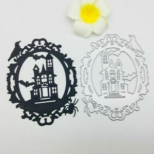 1X Halloween Castle Xmas Cutting Dies Stencil Scrapbooking Embossing Paper Cards
