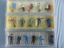 Lot de 18 figurines personnages Ho 1/87 PREISER 10086 VOLLMER 2209 2252 cheminot