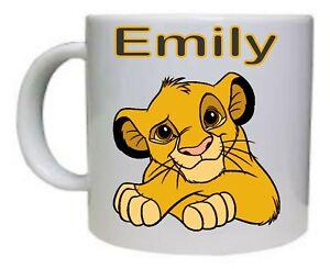 Personalised Lion King - Coffee Mug & Your Name on top, any name you like.....