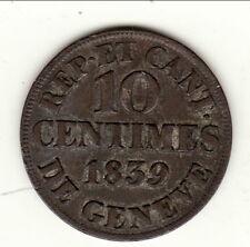 GENEVE 10 CENTIMES 1839