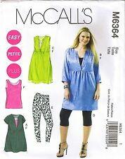 Fácil De Punto Para Mujer Camiseta sin mangas túnica de vestir Leggings  Patrón De Costura Plus 26 28 30 32 3d9c32533fc8