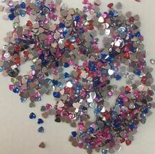 4 mm 1000 un. Corazón Cristal Resina Imitación Perlas piso nuevo Nail Art Craft Gem