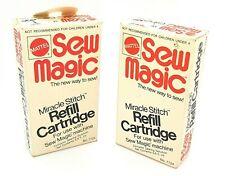 Vintage 1973 Mattel 2 x Sew Magic Refill Miracle Stitch Cartridge New Boxed
