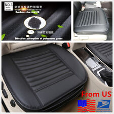 Durable PU Leather+Bamboo Charcoal Full Surround Car Seat Cover Cushion From US