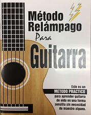 Metodo Relampago Para Guitarra. Learn To Play Guitar Book In Spanish