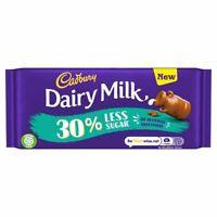 3x Cadbury Dairy Milk 30% Less Sugar Chocolate Bar85g