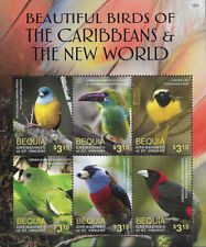 """BEQUIA - 2016 MNH """"BEAUTIFUL BIRDS OF THE CARIBBEAN & THE NEW WORLD"""" S/S !!"""