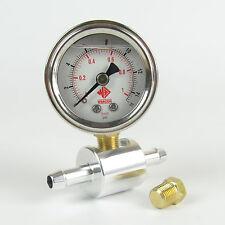 Weber Dellorto manometro pressione del carburante e kit adattatore 0-15psi per sistemi di carboidrati