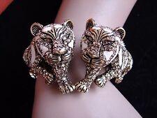 "HEIDI DAUS ""Tempting Tigress"" Crystal/Enamel (Size S/M) Bracelet (Orig.$259.95)"