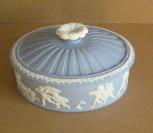Wedgwood Jasperware Blue Blind Mans Buff Lidded Box