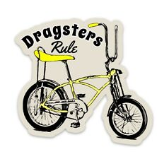Dragsters Rule Sticker, Malvern Star, Repco, Schwinn, Bicycle, Flying Wedge,