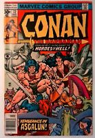 Conan the Barbarian #72 Marvel 1977 FN+ Bronze Age Comic Book 1st Print