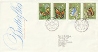 13 MAY 1981 BUTTERFLIES POST OFFICE FIRST DAY COVER BUREAU SHS (k)