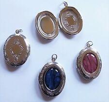 Amulett Medaillon zu öffnen Anhänger für Fotos Bilder Edelstahl Paua Muschel